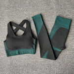 The Warrior Goddess Yoga Gym Seamless High-Waisted Ultra Performance Leggings Sports Bra and Mock Neck Crop Jacket Home AJISSI Sportwear Store Aqua Marine Set (Mock Neck Long Sleeve Crop Jacket Not Included) (2 pcs) S
