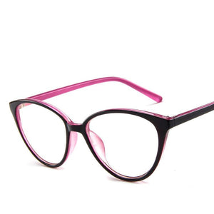 The Transparent Flower Child Retro Cat Eyeglasses Frames Men's Eyewear Frames KOTTDO Official Store Pink