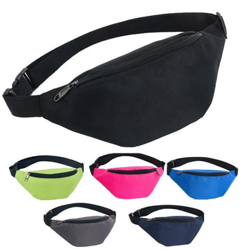 Colour Block Canvas Waist Chest Bag Waist Packs AIREEBAY Store
