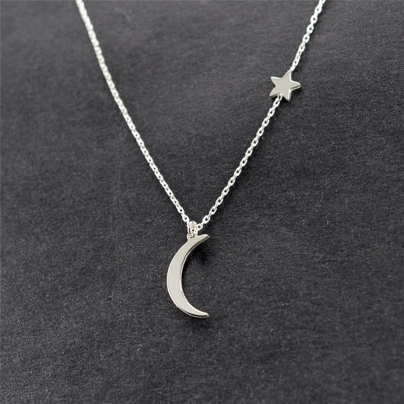The Let's Live Upon the Simply Divine Stars and the Moon Mood Tracker Pendant Necklaces Collection Pendant Necklaces ahmed Official Store