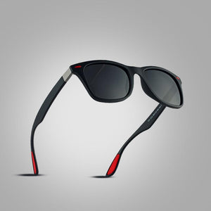 The Red Tipped Lightweight Classic Polarized Unisex Square Eyewear glasses Men's Sunglasses AOFLY Official Store