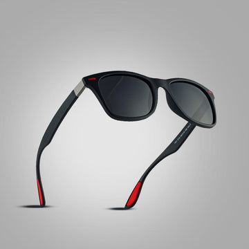 The Red Tipped Lightweight Classic Polarized Unisex Square Eyewear glasses - HABIT