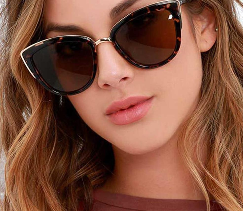 The Egyptian Gold Accented Cat Eye Retro Vintage Sunglasses Women's Sunglasses DCM Private Store