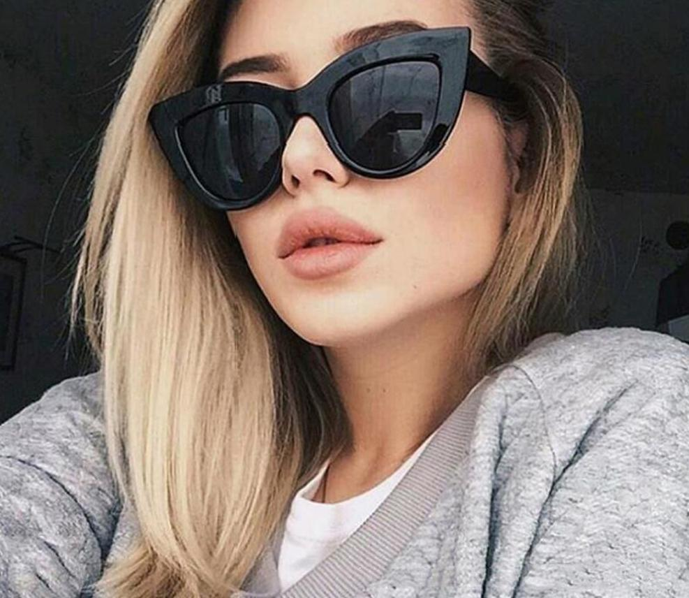 The Vintage 50s Pop Art Cat Eye Retro Sunglasses Women's Sunglasses DCM Private Store