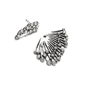 The Fireworks Statement Crystal Stud Punk Rock Earrings (ONE SINGLE EARRING) Stud Earrings Fitable Trendy Store