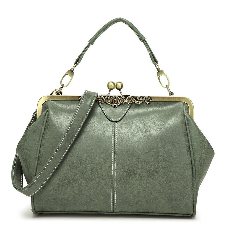 The Retro Doctor All-in-One Shoulder Crossbody Bag and Handbag Shoulder Bags Shop1317070 Store Green