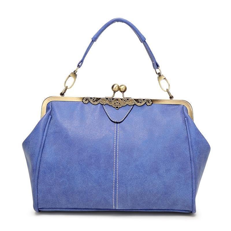 The Retro Doctor All-in-One Shoulder Crossbody Bag and Handbag Shoulder Bags Shop1317070 Store Blue