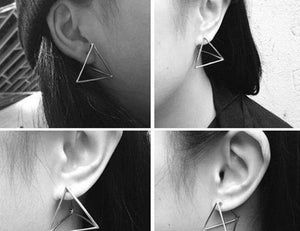 The 3D Geometric Architectural Art Sculpture Hollow Polygon Minimalist Earrings Collection Drop Earrings AllAccessories Online Store