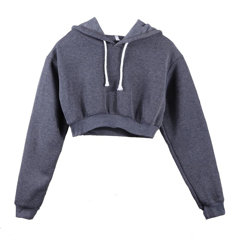 The Must-Have Over-sized Crop Hoodie Hoodies & Sweatshirts Rosie Design Store Dark Grey S
