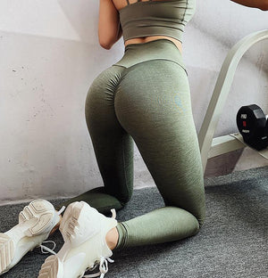 The Effortless Barely There Second Skin Scrunch Butt Seamless Yoga Gym Workout Leggings for an OMG! Bubble Booty Lift Yoga Pants hearuisavy Official Store