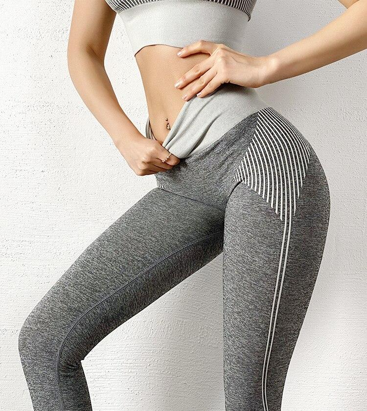 The NASCAR Racer Gradient Seamless Push-Up High-Waisted Scrunch Butt Yoga Gym Leggings & Sports Bra Yoga Pants hearuisavy Official Store