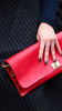 Vampire Red Leather Clutch/Bag