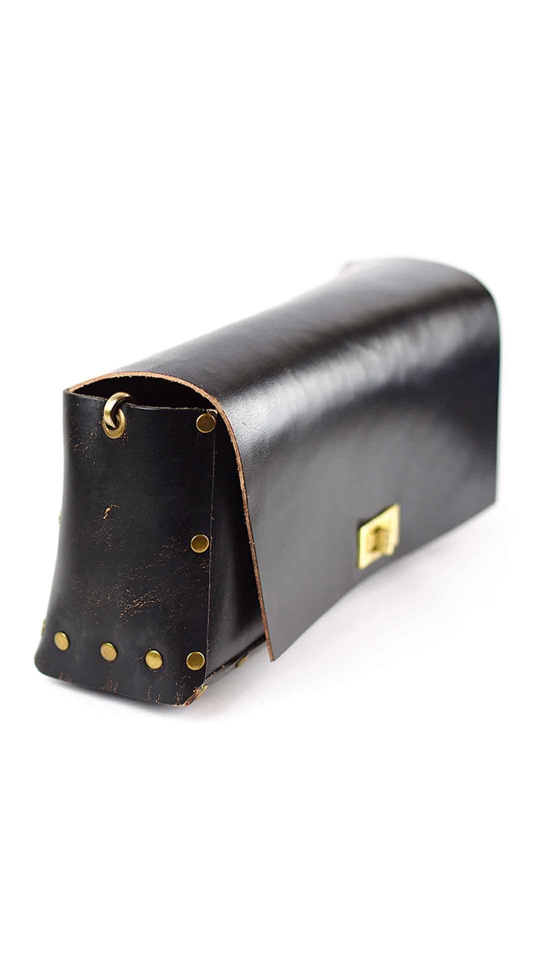 Classic Strong Black Leather Bag