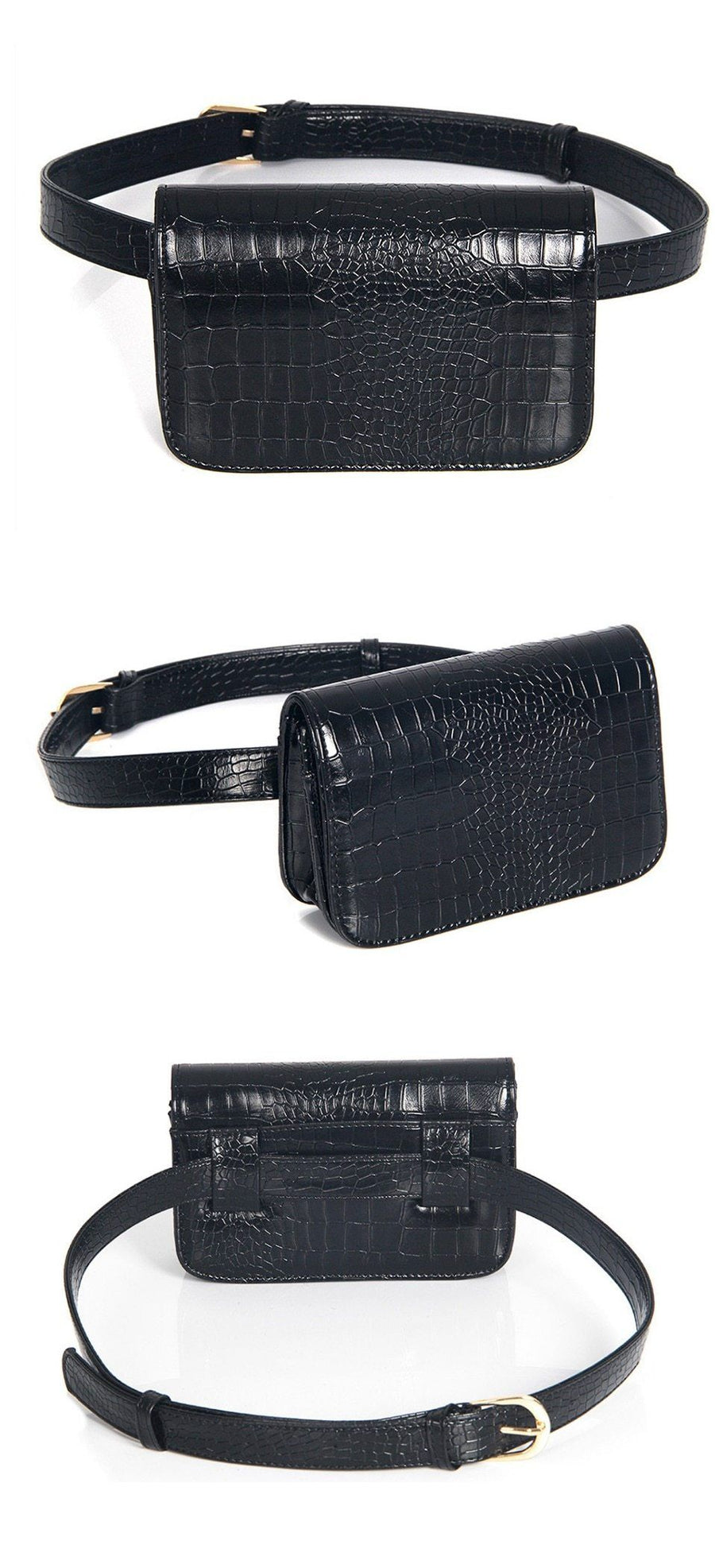 Vintage Alligator Waist Bag Waist Packs DBFashion Store