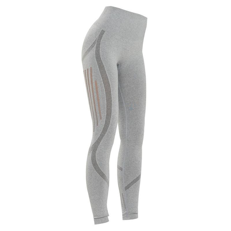 The All-Season Razor Contoured High Waist Seamless Yoga and Gym Leggings (Arctic Smokey Silver Gray Razor) (For Bundling) Yoga Pants JJunLiM CrossfitWorld Store