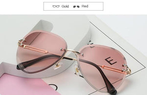 The Invisible Floating Rimless Frameless Gradient Tint Sunglasses Women's Sunglasses Shop4087002 Store