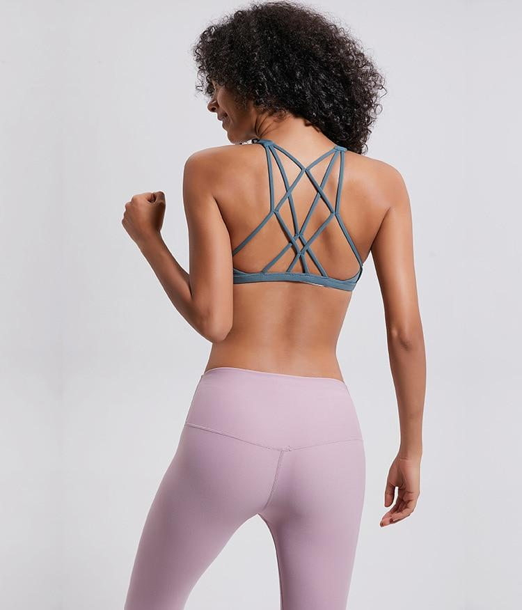 The Cross Back Yoga Sports Bra Sports Bras COLORVALUE Official Store
