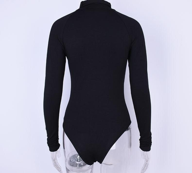 The All-Season Softest Cotton Long Sleeve High Neck Basic Must-Have Bodysuits hugcitar Official Store