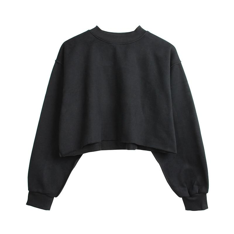 The Only Basic Autumn Winter Sweaters for Women Hoodies & Sweatshirts StreetwearX Store Black S