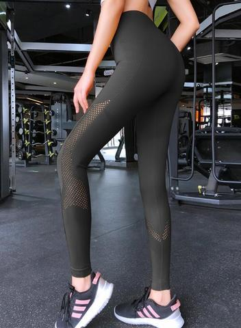 The Meshy High Waist Seamless Yoga Dance Leggings Yoga Pants Le Nakai Official Store