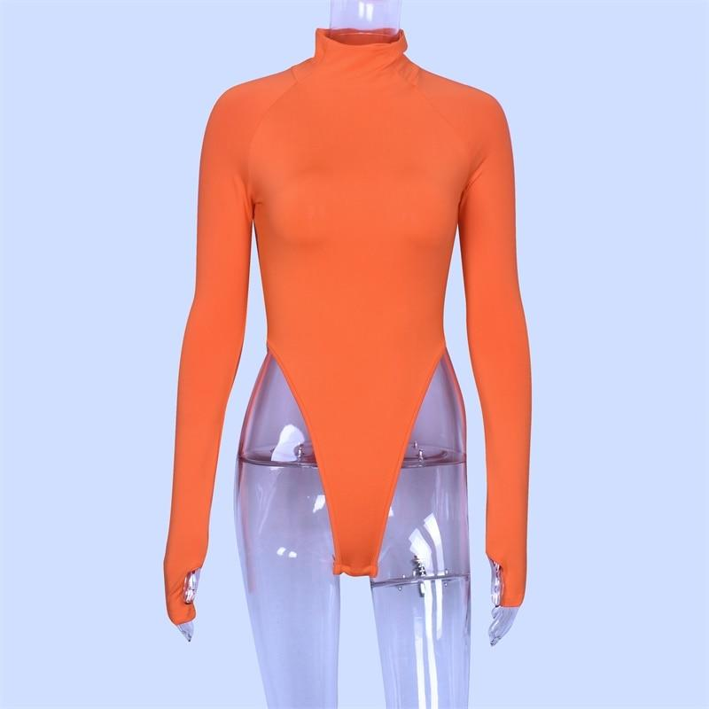 The Risky Turtleneck Long Sleeve Thumbhole Bodysuits hugcitar Official Store