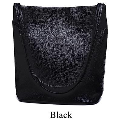 The Bucket Shopping Large Shoulder Crossbody Tote Leather Bag Shoulder Bags Yogodlns Official Store