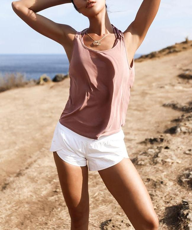 Easy-Breezy Backless Yoga Singlet Yoga Shirts LA a L'A Store Pink S