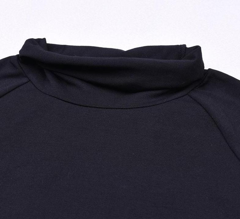 The All-Season Softest Cotton Long Sleeve High Neck Basic Must-Have - HABIT