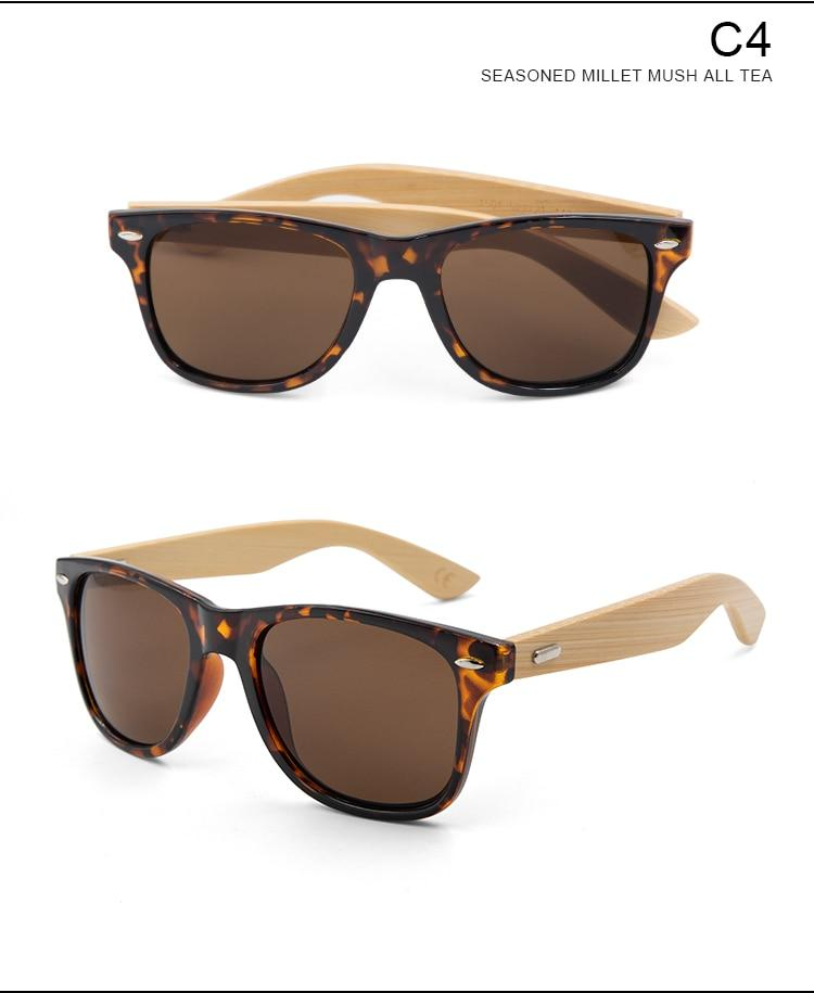 The Bamboo Lightweight wooden retro Sunglasses - HABIT