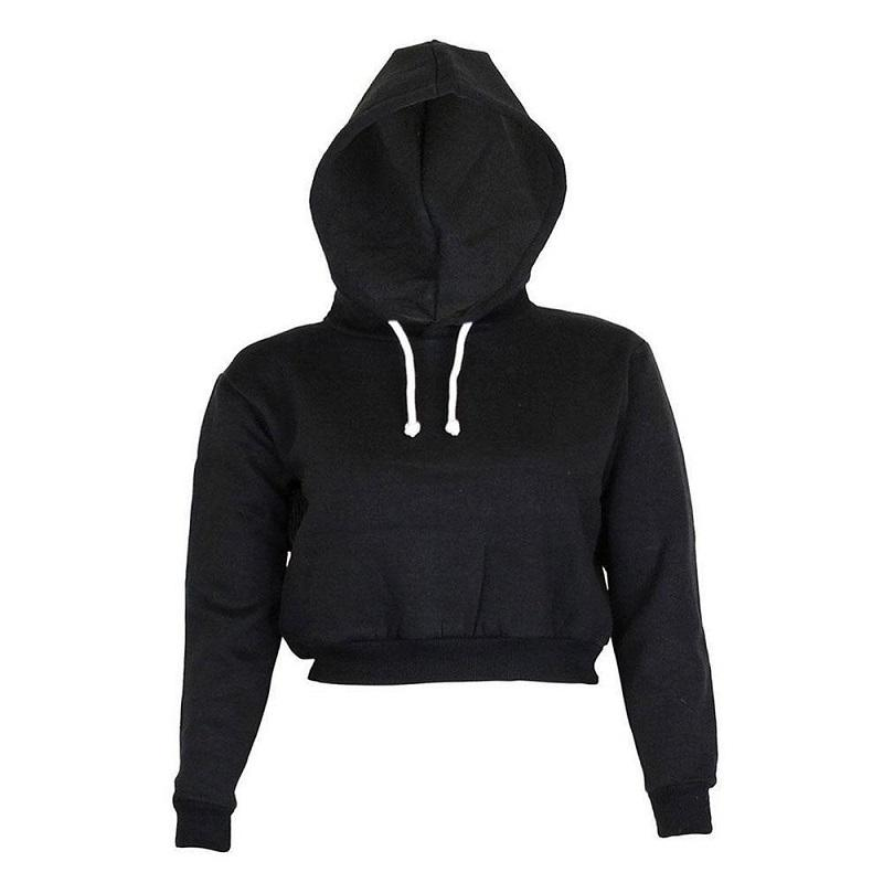 The Must-Have Over-sized Crop Hoodie Hoodies & Sweatshirts Rosie Design Store Black S