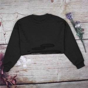 Retro Derelict Ripped Vintage Long Sleeve Sweaters Hoodies & Sweatshirts WYFeng Store