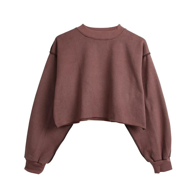 The Only Basic Autumn Winter Sweaters for Women Hoodies & Sweatshirts StreetwearX Store Dark Brown S