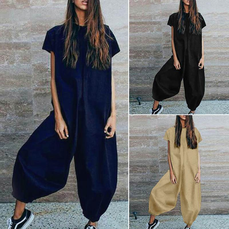 The 100% Cotton Casual Jumpsuit Jumpsuits YUYU Clothes Store