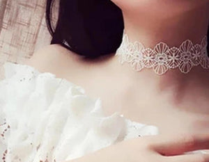 Sexy n' Sweet Punk Gothic Tattoo Hollow Handcrafted Lace Flower Vintage Choker Collar Necklace Choker Necklaces QBH Jewelry Co.,Ltd min order $1