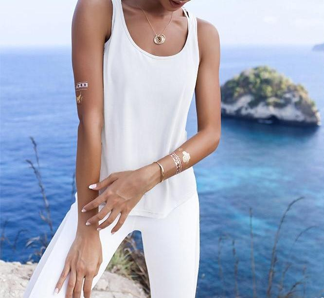 Easy-Breezy Backless Yoga Singlet Yoga Shirts LA a L'A Store