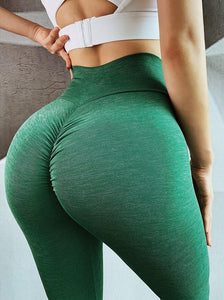 The Effortless Barely There Second Skin Scrunch Butt Seamless Yoga Gym Workout Leggings for an OMG! Bubble Booty Lift Yoga Pants hearuisavy Official Store Green with Envy S