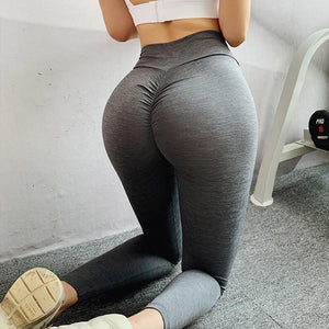 The Effortless Barely There Second Skin Scrunch Butt Seamless Yoga Gym Workout Leggings for an OMG! Bubble Booty Lift Yoga Pants hearuisavy Official Store Brushed Gray Steel S