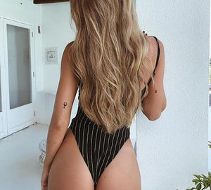 The Work or Play Strappy Backless Bodysuit Bodysuits hugcitar Official Store