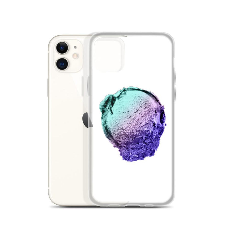 iPhone Case - Ice Cream Ball FIGHT - Spearmint Lavender Smear HABIT