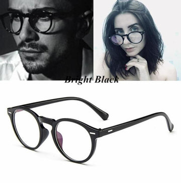 The Spy Novel Book Worm Classic Vintage Retro Round Unisex Eyeglasses Frames Men's Eyewear Frames KOTTDO Official Store