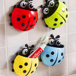 Ladybug Sucker Toothbrush Holder Bathroom Set Toothbrush & Toothpaste Holders Tanbaby Factory Store