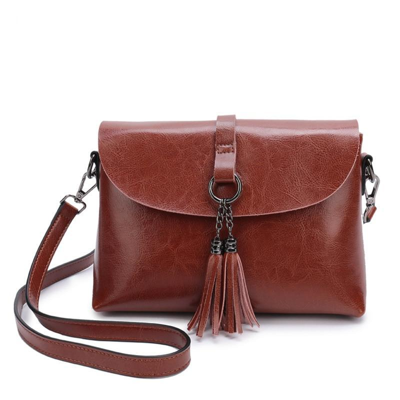The Femme Fatale Victorian Leather Briefcase Messenger Crossbody Bag - HABIT