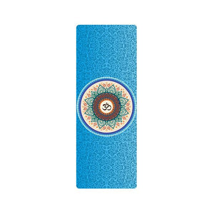 The Mrs. Captain Planet MACHINE-WASHABLE (!) Non-Toxic Recycled Totes Sustainable Environmentally-Friendly Minimalist Luxe Yoga Mat Pad Yoga Mats zhongzuishang Official Store Blue Om