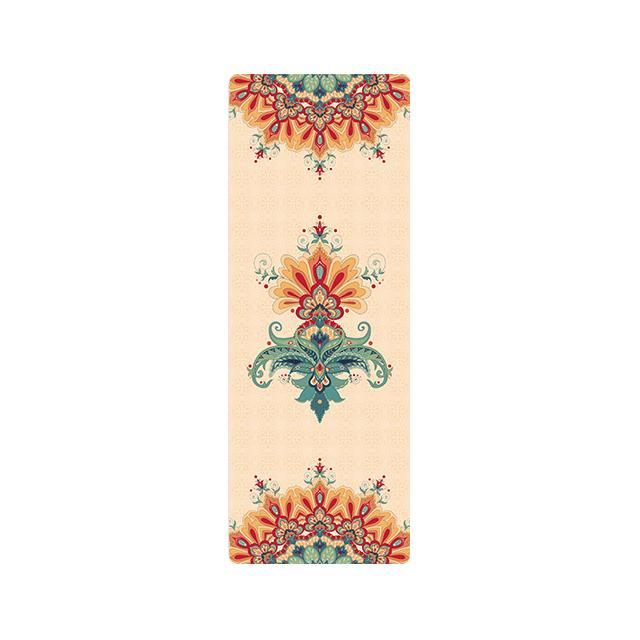 The Mrs. Captain Planet MACHINE-WASHABLE (!) Non-Toxic Recycled Totes Sustainable Environmentally-Friendly Minimalist Luxe Yoga Mat Pad Yoga Mats zhongzuishang Official Store Fractal Orange