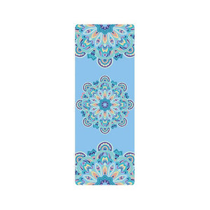 The Mrs. Captain Planet MACHINE-WASHABLE (!) Non-Toxic Recycled Totes Sustainable Environmentally-Friendly Minimalist Luxe Yoga Mat Pad Yoga Mats zhongzuishang Official Store Blue Circles