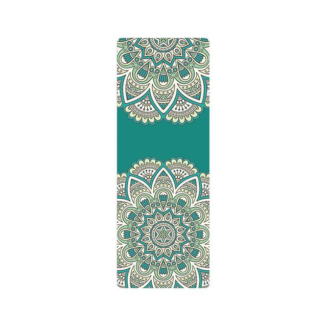The Mrs. Captain Planet MACHINE-WASHABLE (!) Non-Toxic Recycled Totes Sustainable Environmentally-Friendly Minimalist Luxe Yoga Mat Pad Yoga Mats zhongzuishang Official Store Green Paisley