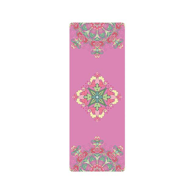 The Mrs. Captain Planet MACHINE-WASHABLE (!) Non-Toxic Recycled Totes Sustainable Environmentally-Friendly Minimalist Luxe Yoga Mat Pad Yoga Mats zhongzuishang Official Store Pink Fractal