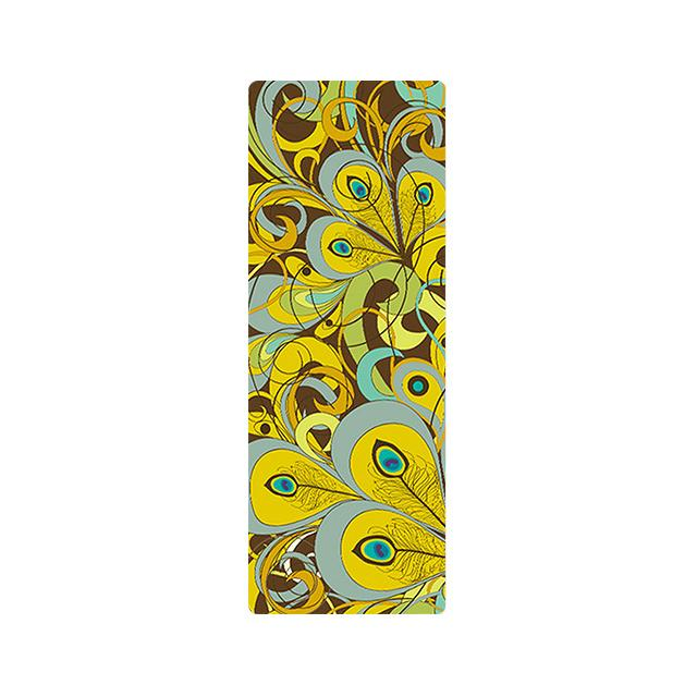 The Mrs. Captain Planet MACHINE-WASHABLE (!) Non-Toxic Recycled Totes Sustainable Environmentally-Friendly Minimalist Luxe Yoga Mat Pad Yoga Mats zhongzuishang Official Store Golden Yellow Peacock