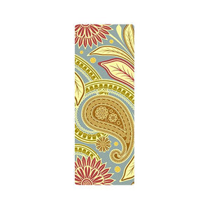 The Mrs. Captain Planet MACHINE-WASHABLE (!) Non-Toxic Recycled Totes Sustainable Environmentally-Friendly Minimalist Luxe Yoga Mat Pad Yoga Mats zhongzuishang Official Store Classic Paisley