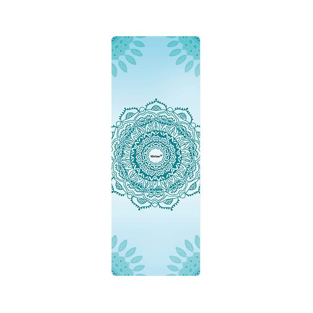 The Mrs. Captain Planet MACHINE-WASHABLE (!) Non-Toxic Recycled Totes Sustainable Environmentally-Friendly Minimalist Luxe Yoga Mat Pad Yoga Mats zhongzuishang Official Store The Throat Chakra (Soothing Blue)